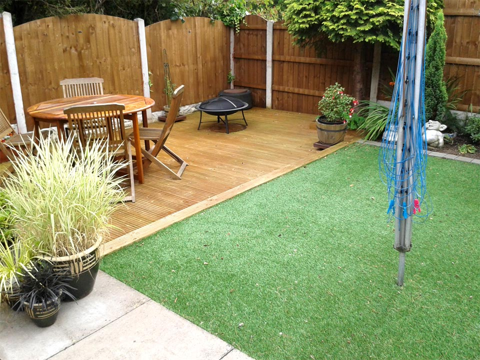 Kingfisher paving construction construction landscaping for Garden decking and grass