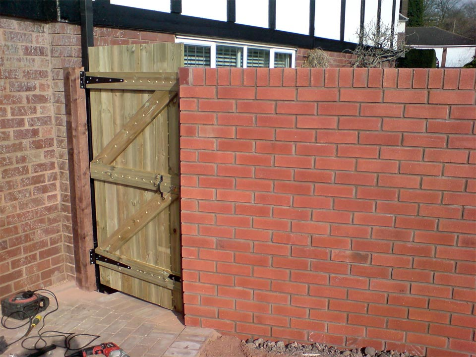 Brick Wall And Gate
