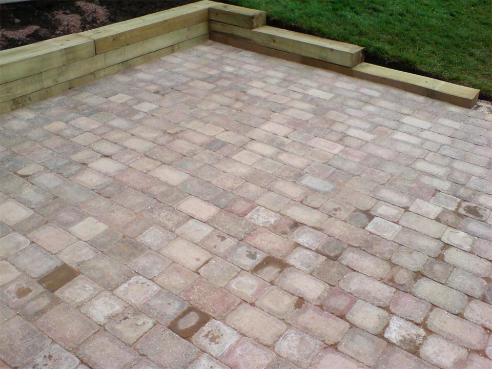 Cobble Paving Railway Sleepers