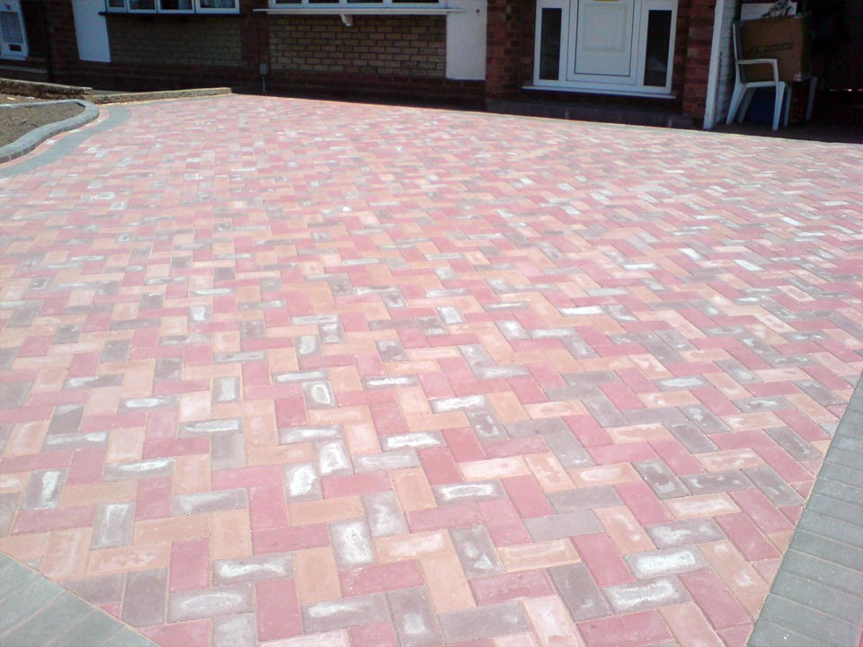 Red Plum Marigold Block Paving