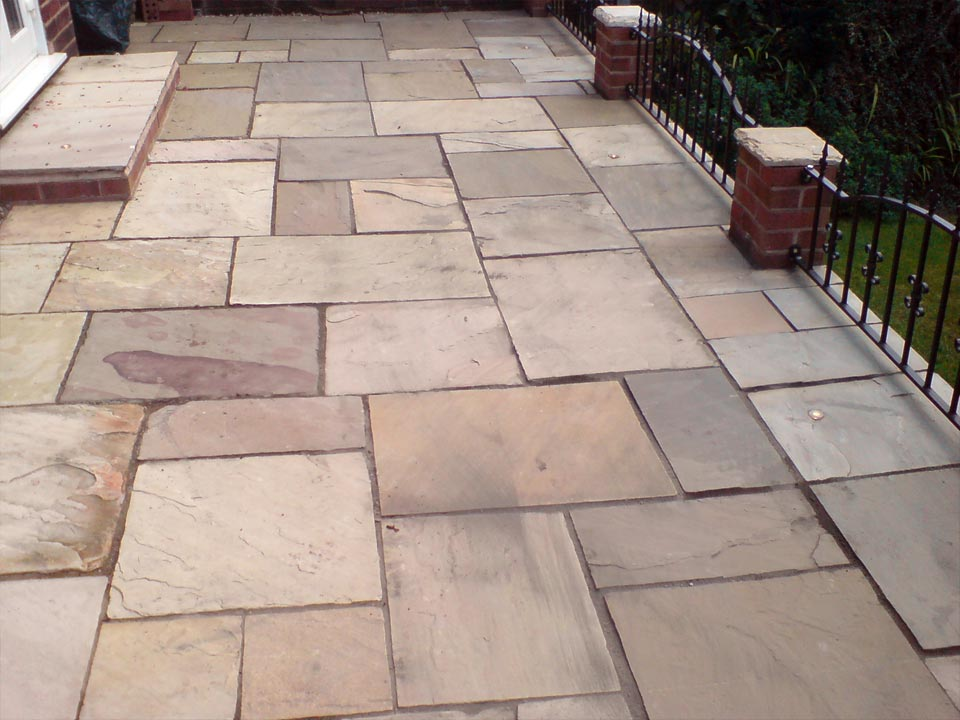 Rivened Slab Patio
